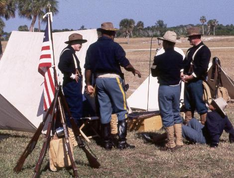 Soldiers at the encampment