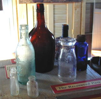 Various bottles found in the park.