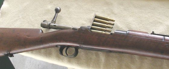Magazine on a Mauser rifle